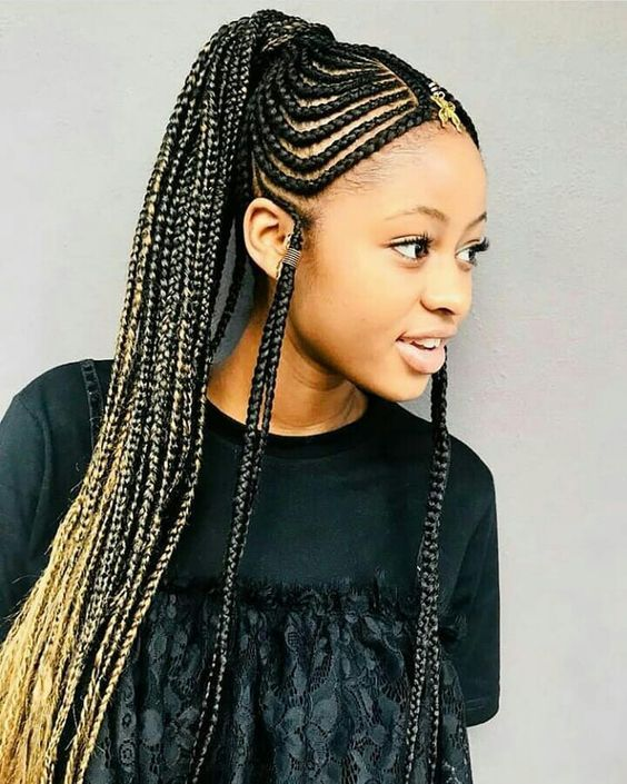 fashionable african braided