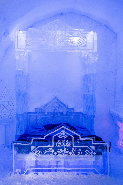 Hotel De Glace 2014 Ice Hotel with Disney's Frozen themed rooms