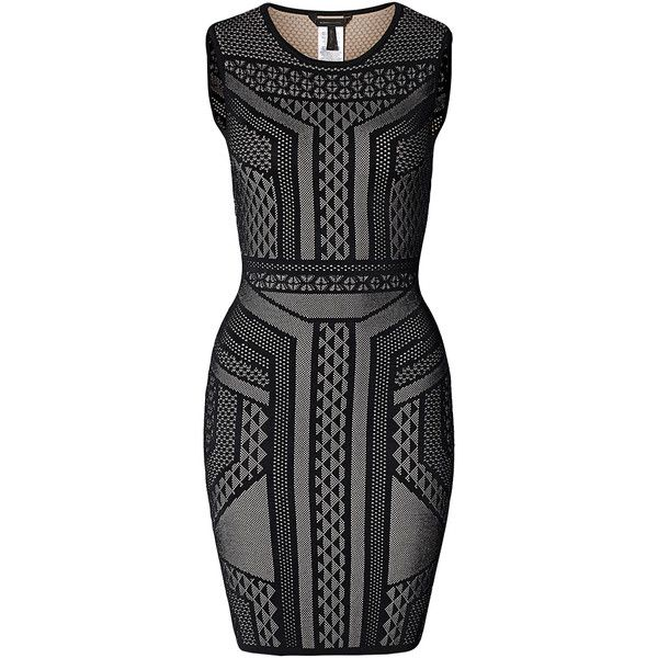 BCBG Knit Sweater Cocktail Dress ❤ liked on Polyvore featuring dresses, fitted... 1