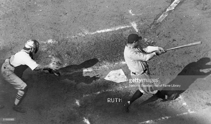 Babe Ruth at-bat in the 1926 World Series against the St. Louis Cardinals. The Cardinals won the series 4 games to 3.