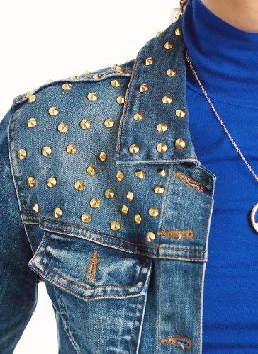 Stud Embellished Denim Jacket Fashionista Me In 2019