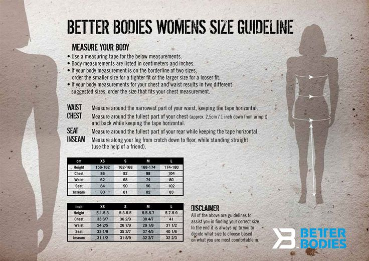 Size Chart - Way2Buy GYM Apparel