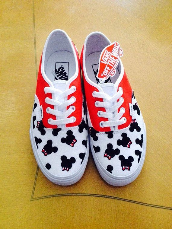 Mickey Mouse Bowties Adult Custom VANS Shoes by CarcamoCustoms