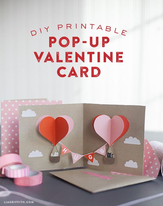 DIY Valentine Pop-Up Card - Lia Griffith