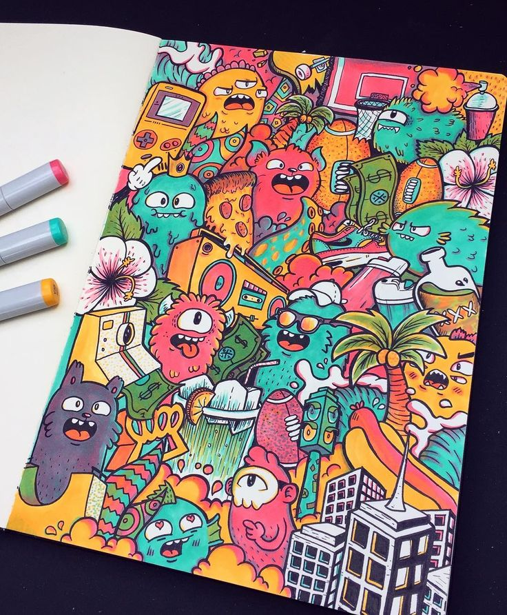 "Polubienia: 14.8 tys., komentarze: 251 – Vince Okerman (@vexx_art) na Instagramie: ""Finished Three Marker Challenge ✍️ I'm pretty happy with the result, the doodles came our great…"""
