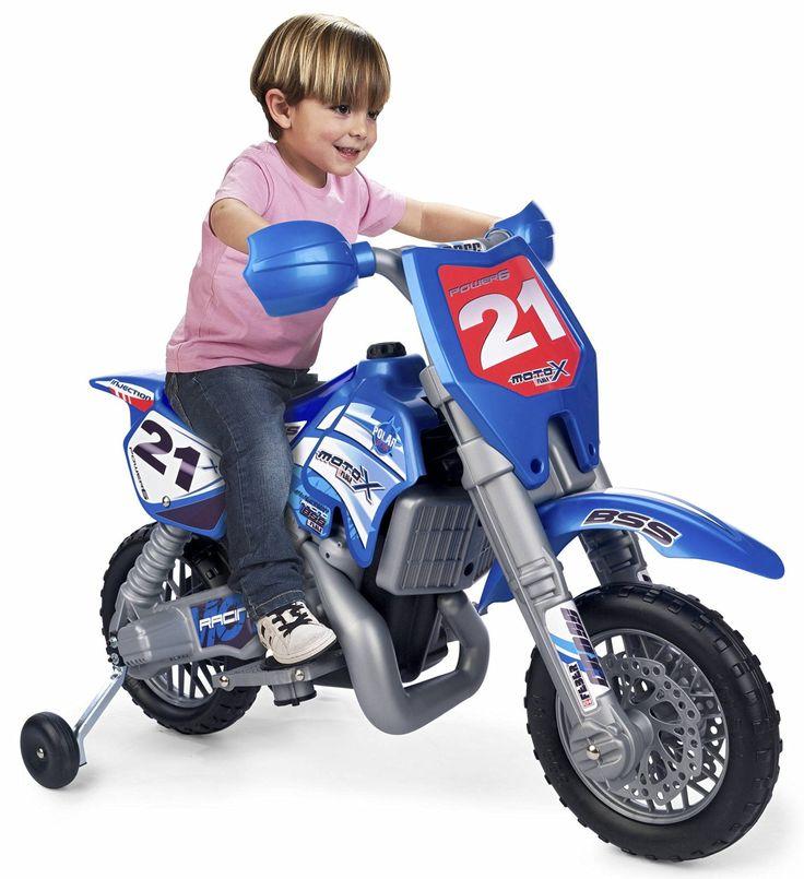 FEBER 800002995- MOTO INFANTIL 6V CROSS AZUL. CASCO INCLUIDO, IndalChess.com…