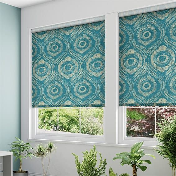 Choices Bocca Teal Roller Blind