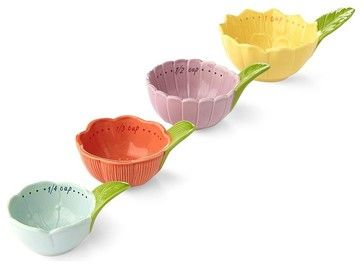 Floral Measuring Cups eclectic measuring cups and spoons