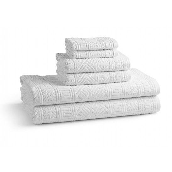 Anacapri Jacquard Towel - White
