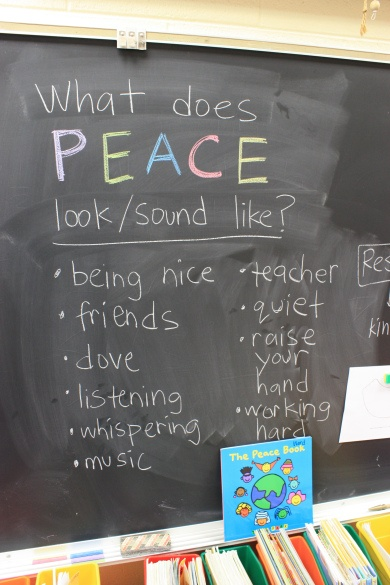 HOw to create a culture of peace in the classroom - Some great ideas!
