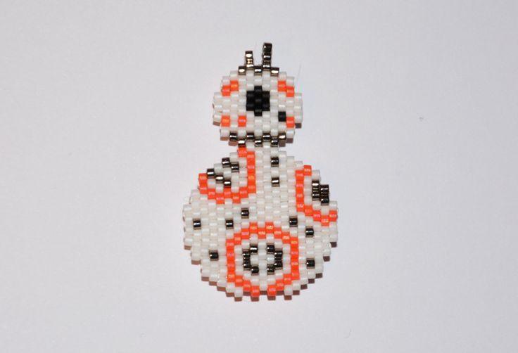Star Wars BB-8 perles miyuki de la boutique Makeristerie sur Etsy