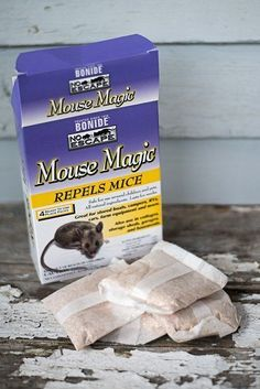 A humane way to repel mice by the use of natural essential oils conveniently packaged in packs that can be easily placed where needed. Try placing them where mice feed and congregate such as: garages,