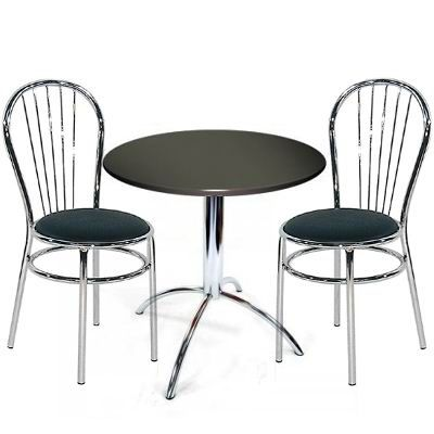Trexine Small Dining Kitchen Table Set With Padded Chairs