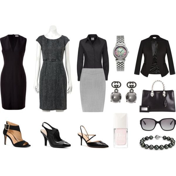 """""""Wardrobe Capsule - Basics in black clair underwood"""" by puremoxy-by-cathy on Polyvore"""