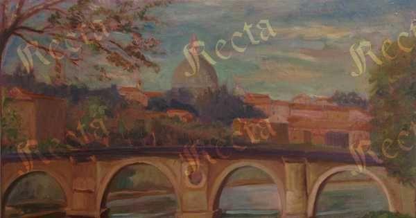 Olio su tela  50cm x 70cm  ♦  Recta Galleria d'arte -  Roma - Pittori e dipinti dell'ottocento e novecento, arte e scultura 800 e primo 900