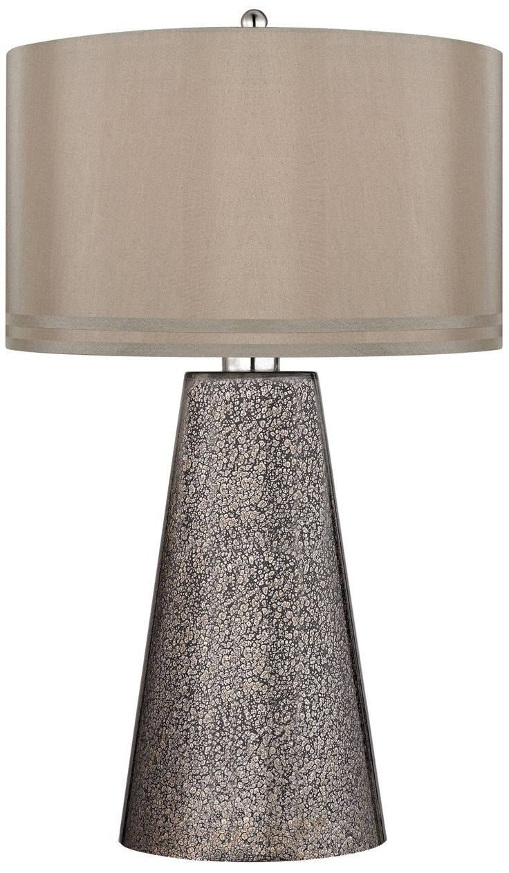 Dimond Lighting D2496-LED Stafford Glass Table Lamp, Heavy Metal Mercury. Style: Transitional. Finish: Heavy Metal Mercury. Shade Color: Cappuccino.