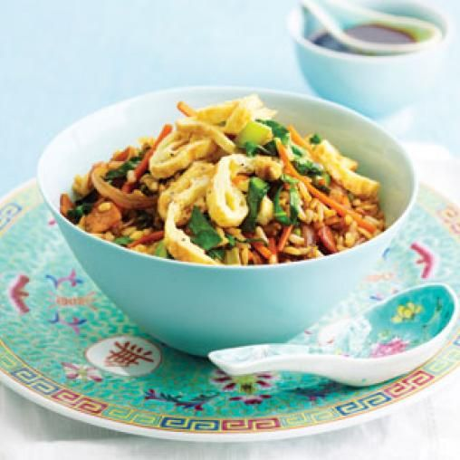 Low-fat fried rice