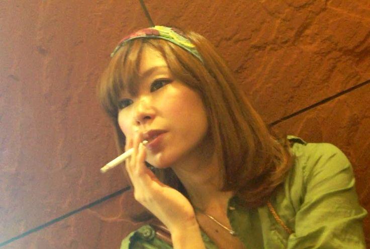 Sweet Japanese girl smoking 73