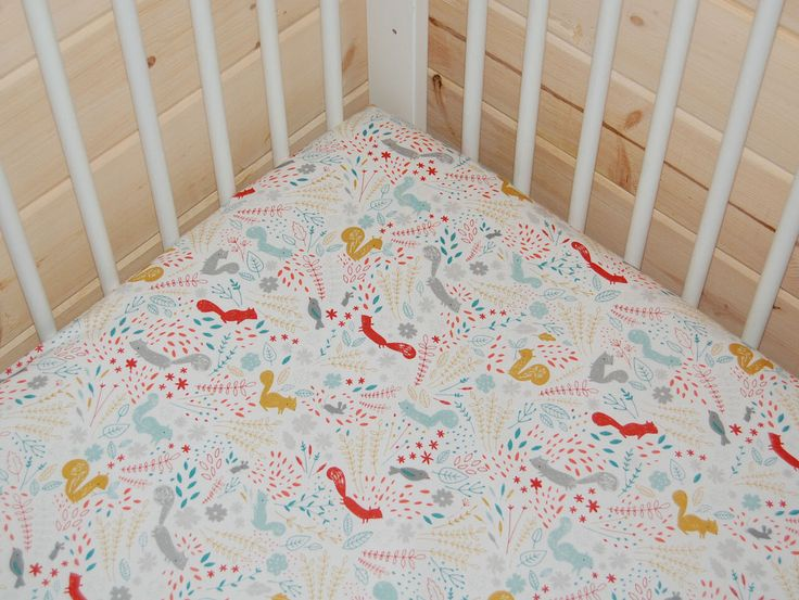 woodland crib bedding squirrel crib sheet bird fitted crib sheet mini crib sheet