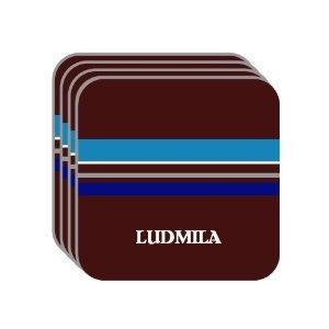 "Image detail for -... Name Gift - ""LUDMILA"" Set of 4 Mini-Mousepad Coasters (blue design"