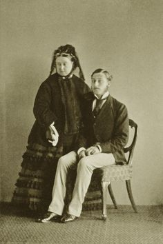 Never seen this one before -- Queen Victoria and her favorite son, Prince Arthur, Duke of Connaught on his 20th birthday.