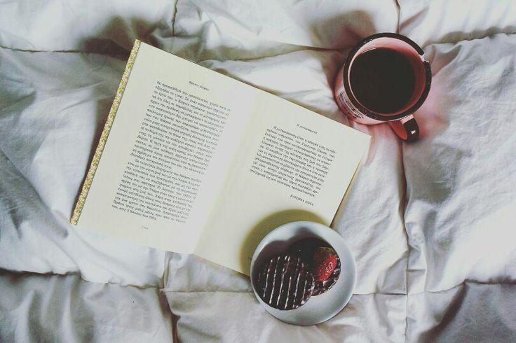 #morning #tea #books #breakfast #bedroom #inspiration