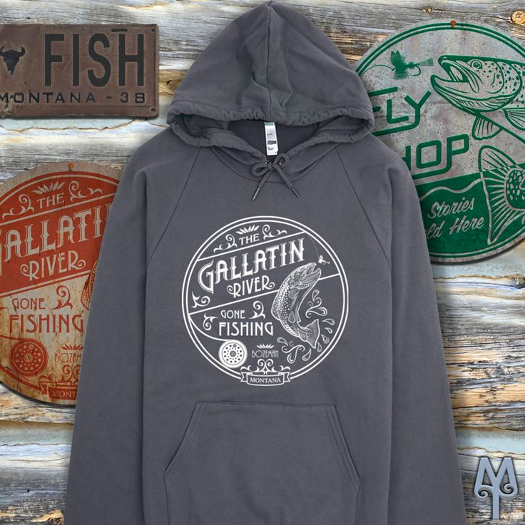 A Gallatin River Sweatshirt...This is exactly what you need for Fall fishing on the Gallatin River. The winds will be chilling on the river and you'll need a hoodie to protect your ears and hold onto your ball cap. It helps when the hoodie is 100% cotton fleece, breathable, yet extra thick for warmth.