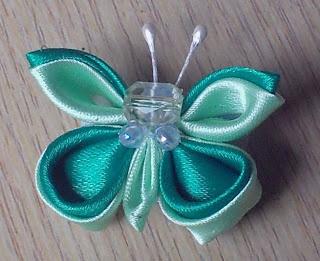 Beautifull brooch, Kanzashi Butterfly Brooch,