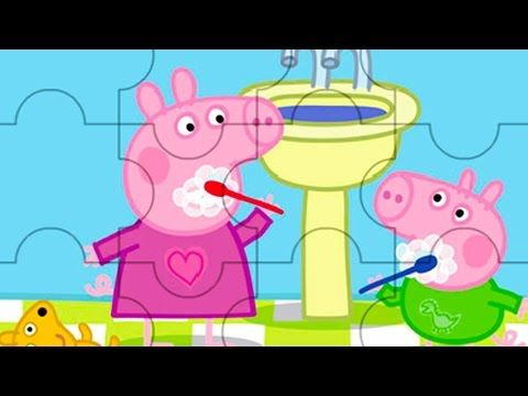 Peppa Pig Puzzle Peppa and family video for kids - YouTube