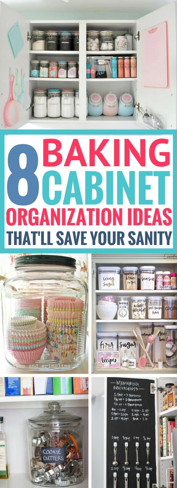 I'm blown away by these AMAZING Baking Cabinet Organization Ideas. Such easy and simple ways to organize a messy baking cabinet once and for all. Definitely going to be rearranging mines really soon.