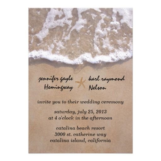 Casual Beach Theme Wedding Invitation #wedding #invitations