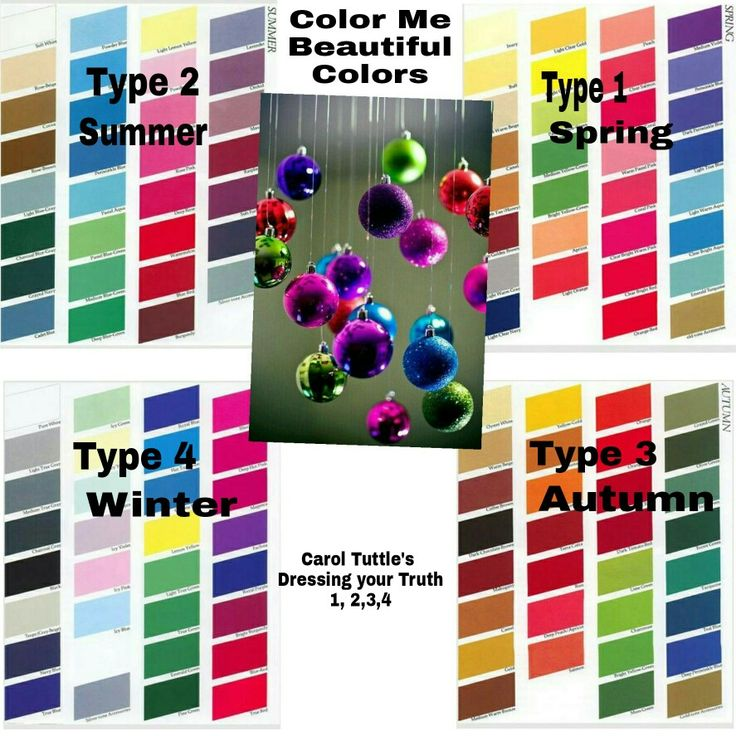 Color me beautiful colors carol tuttles dyt type 1234
