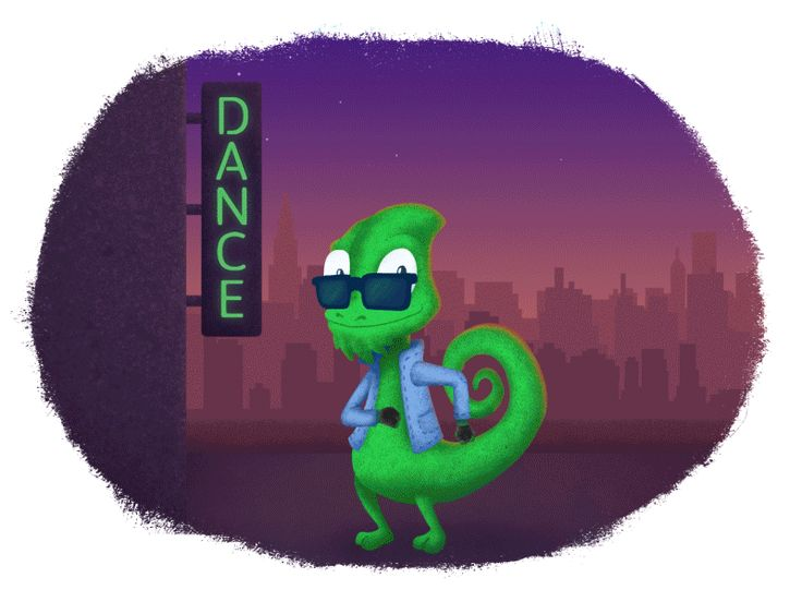Play with moves and colors! Be bright and different like our new dancing chameleon!