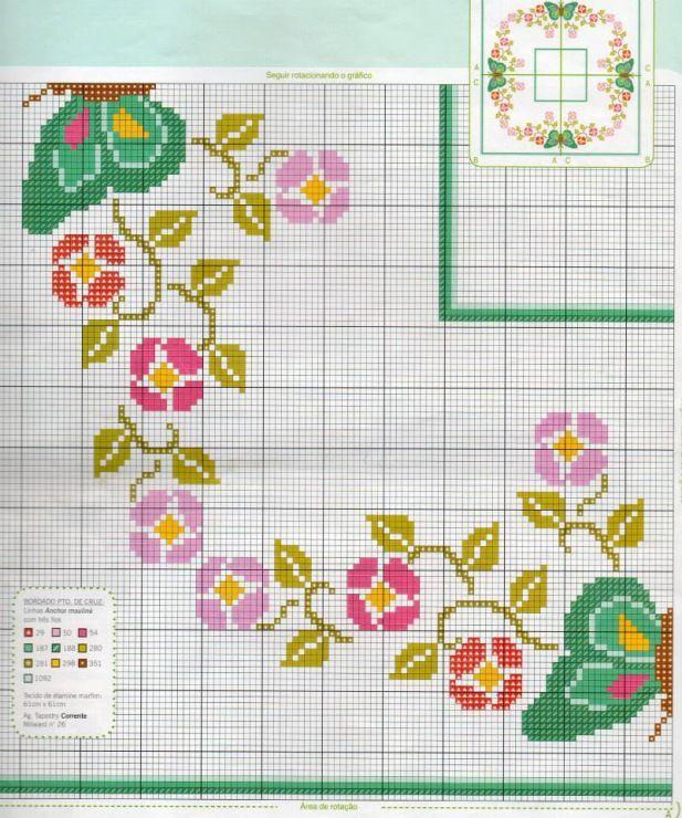 centro flores y mariposas