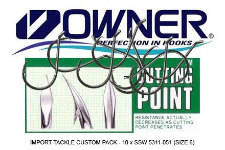Owner custom 10 hook pack.