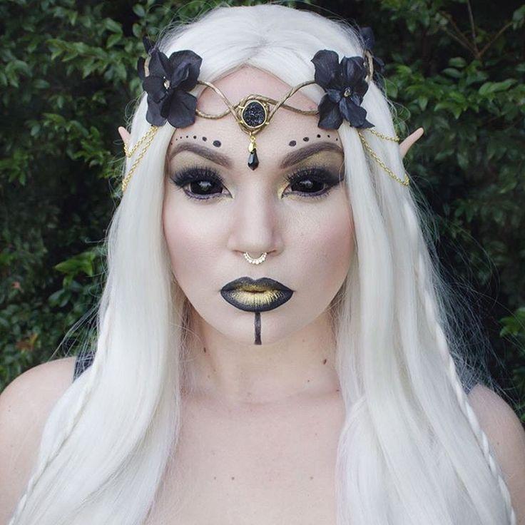 Black and Gold Elf Makeup /Costume.