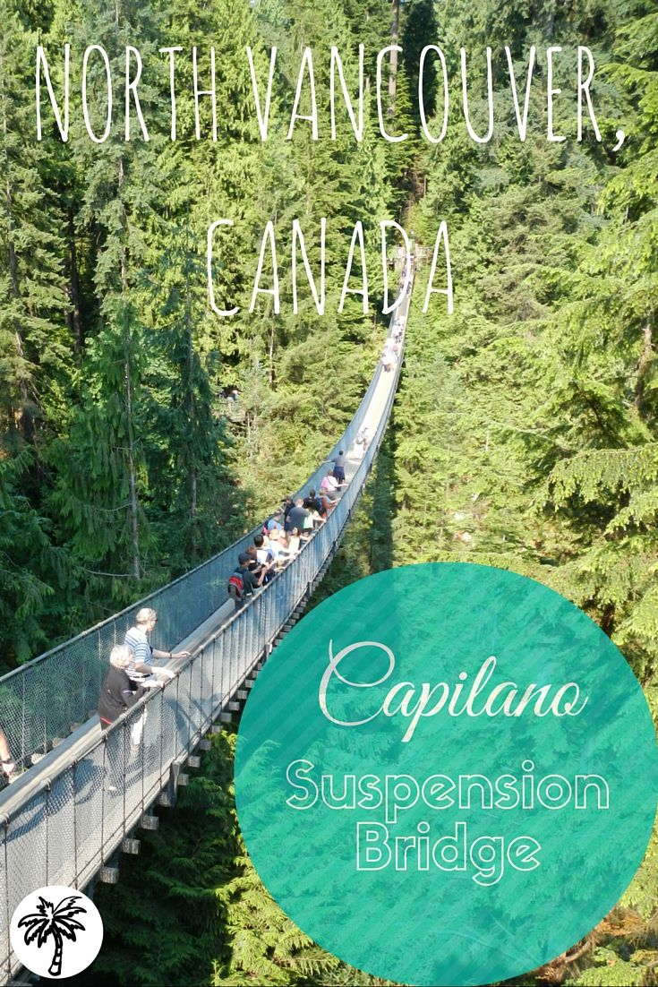 "Plan a day trip to get out of the city and explore the Capilano Suspension Bridge located in North Vancouver, British Columbia! Enjoy the tree top adventures and the cliff walk too! The scenic views allow lots of opportunities for ""Selfies"" and group photoshoot. More details at TheThirstyTourist.com"