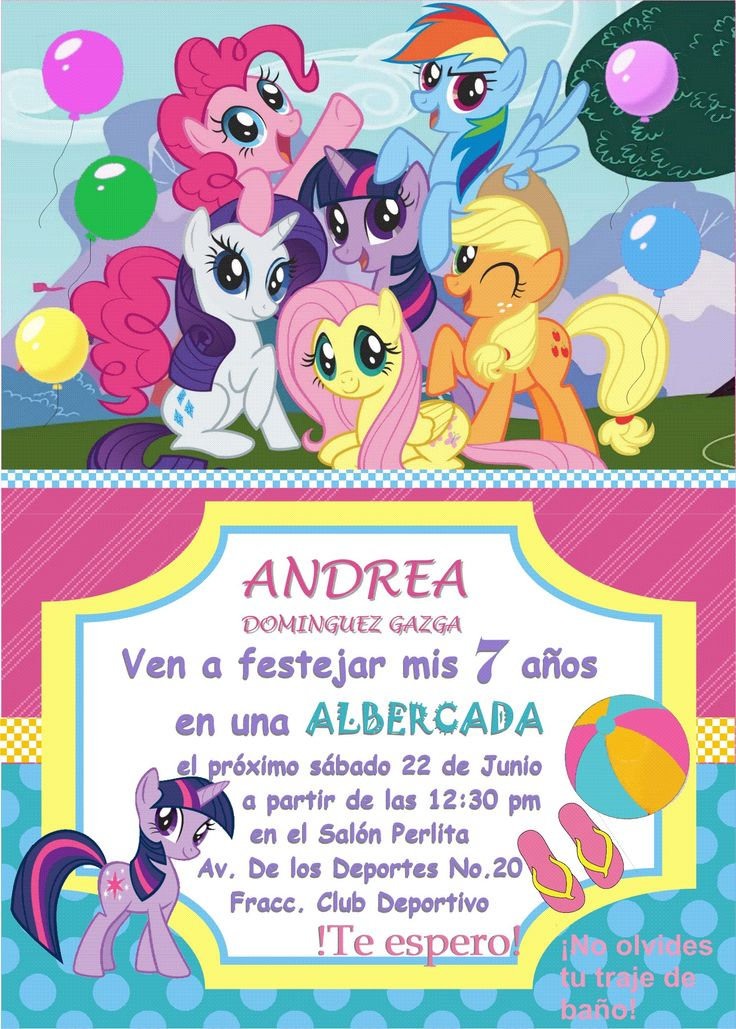 My Little Pony Photo Invitations for amazing invitation design