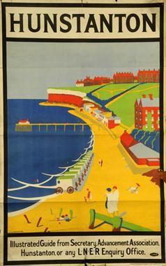 J.L. CARSTAIRS (British, c1930s) HUNSTANTON, original poster for L.N.E.R. by Vincent