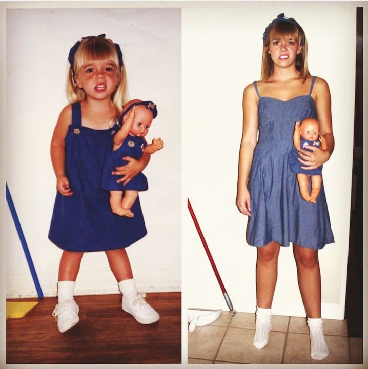 These childhood photo recreations are amazing! #Parenting