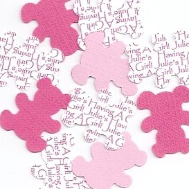 Personalized Teddy Bear Baby Shower Table Decorations - Choice of Colors $6.50