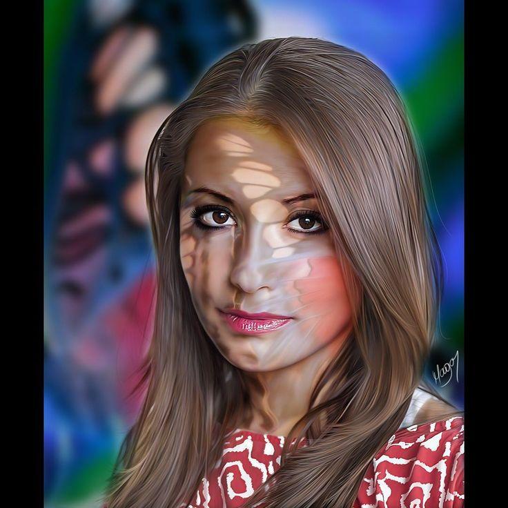 Mariposa. Por: MAGAR  Dibujo digital de Julio César Martinez #magardesign #juliocesarmartinez #dibujo #rostrodigital #fotografiadigital #artedigital #pinturadigital #retratodigital #retratosartisticos #diseñodigital