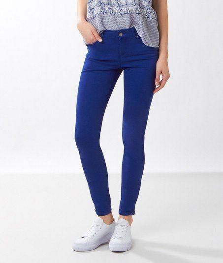 Pantalon skinny zip chevilles - SEBON - BLEU ROYAL - Etam 39€95
