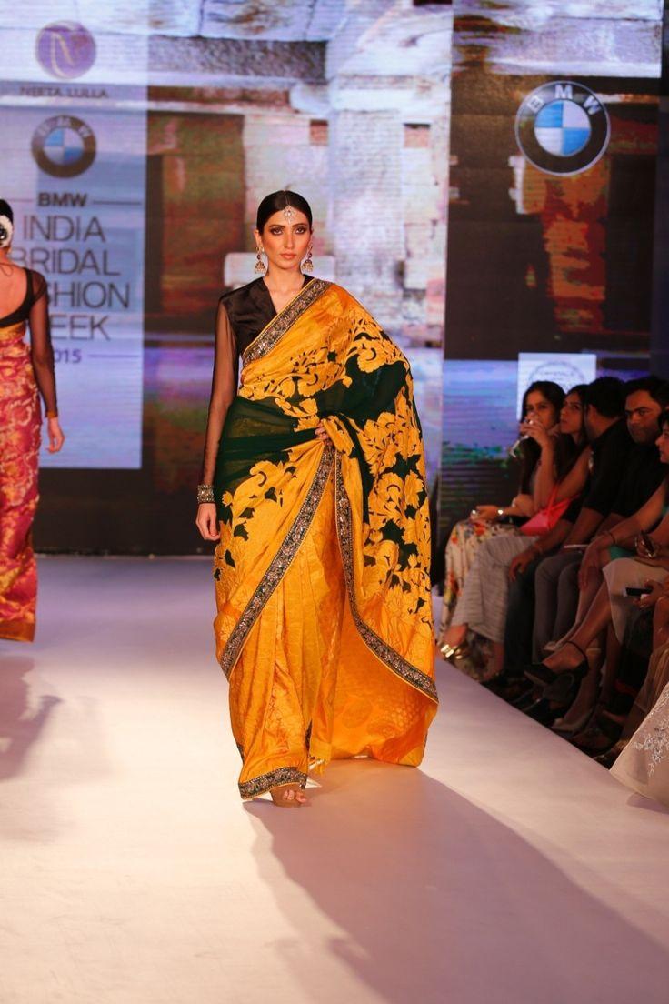 Yellow Kanjivaram Silk Saree With Blouse #bandbaajaa.com #bandbaajaa #weddingsarees #weddingsaris #bridalsarees #bridalsaris #designersarees #designersaris #sarees #saris #weddingwear #weddingshopping #neetalulla #neetalullasaree