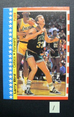 Larry Bird - Fleer Stickers Basketball Card - (No. 4 of 11)