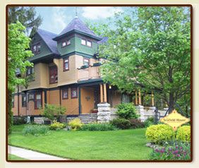 Scofield House Bed and Breakfast Inn.  A beautiful old home decorated with beautiful antiques.  Delicious three course breakfasts.