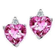 Pink diamond earrings for Valentine's Day....Yes Please!
