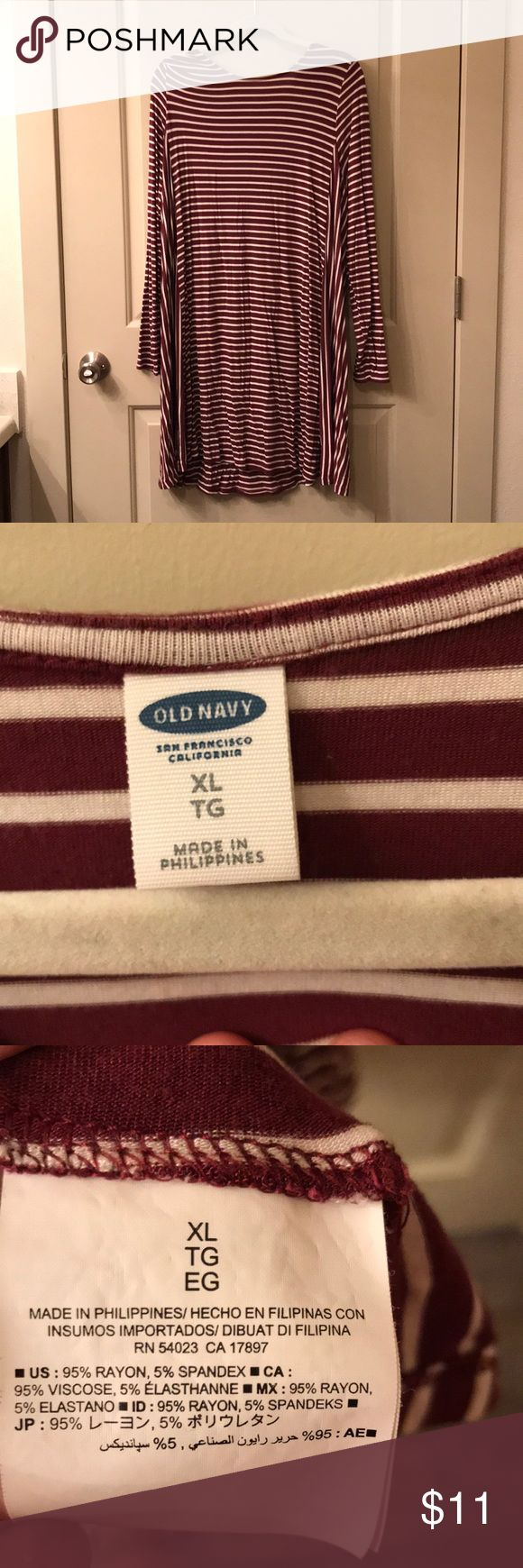 Old Navy Stripe Dress Great condition! Old Navy Dresses