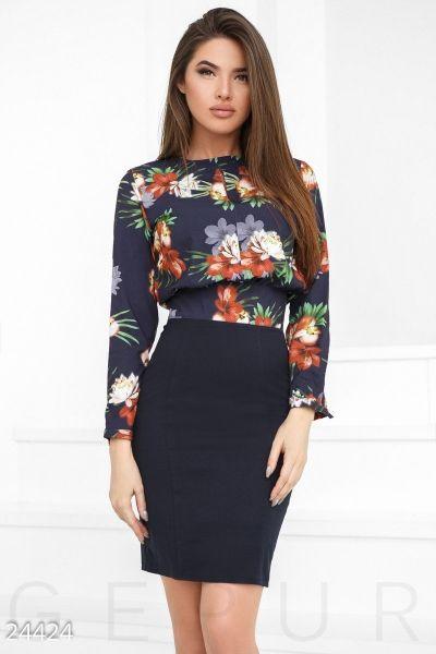 Принтованое платье-обманка (мультиколор)  8fcc8ee55e758