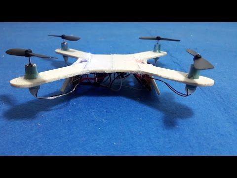 Cheap 18$ DIY flying drone quad-copter - YouTube